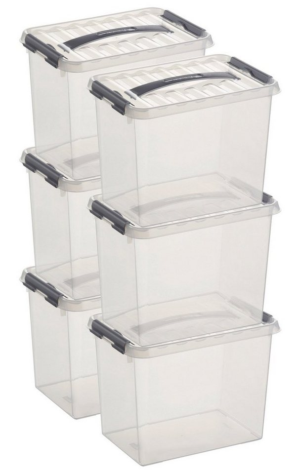 Sunware Aufbewahrungsboxen »9 Liter«, 6er Set in weiß