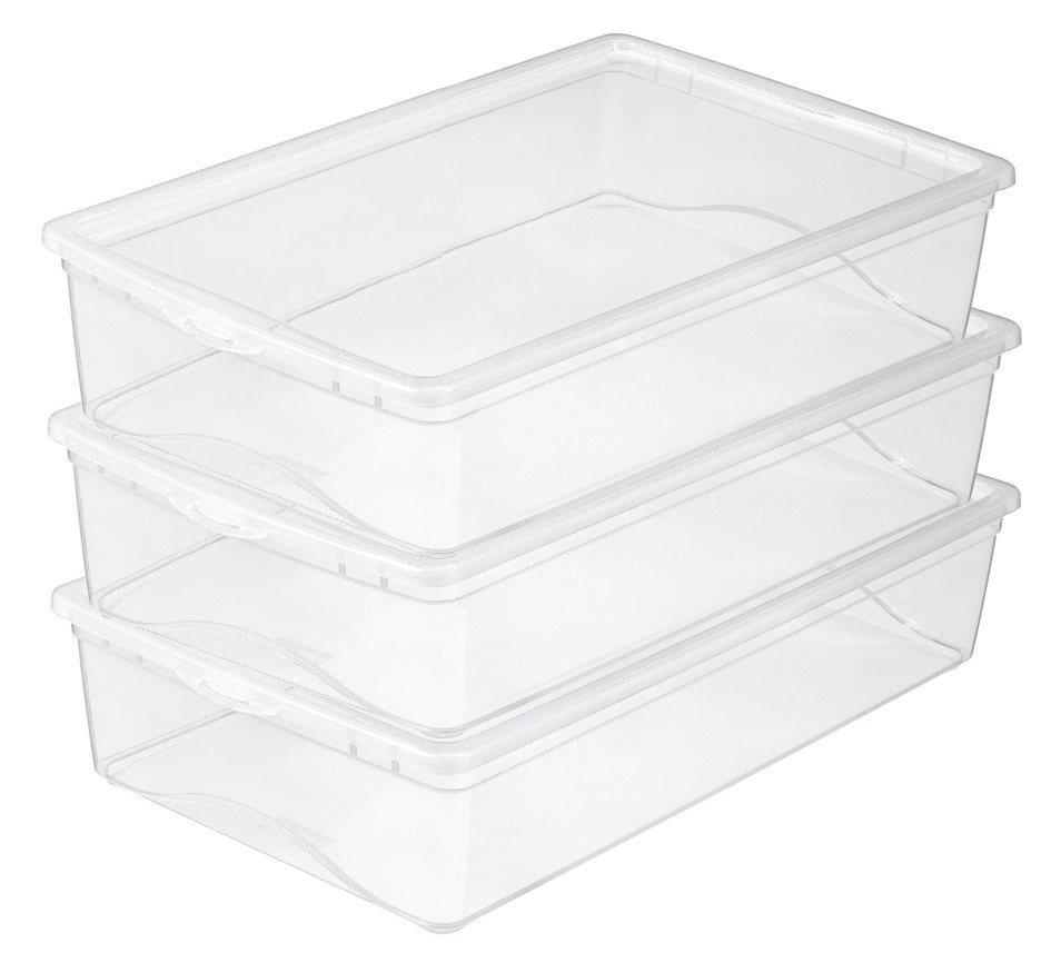 3er Set Aufbewahrungsboxen »19 Liter« in weiß