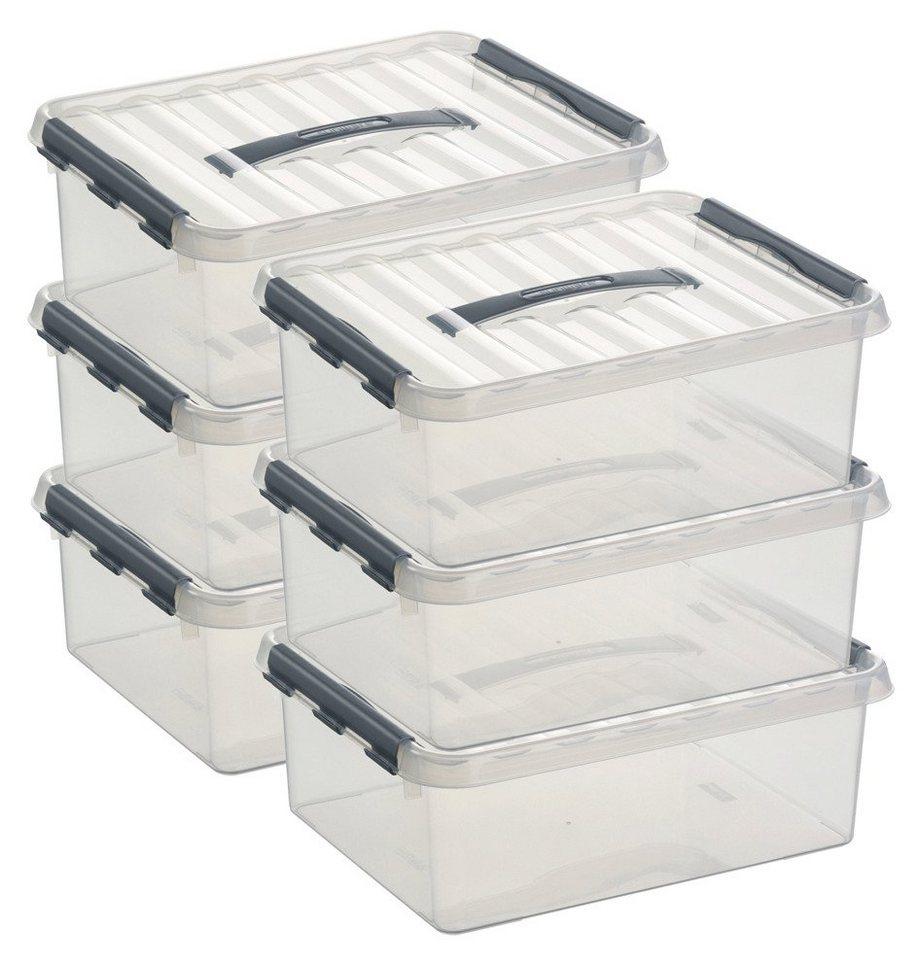 Sunware Aufbewahrungsboxen »12 Liter«, 6er Set in weiß