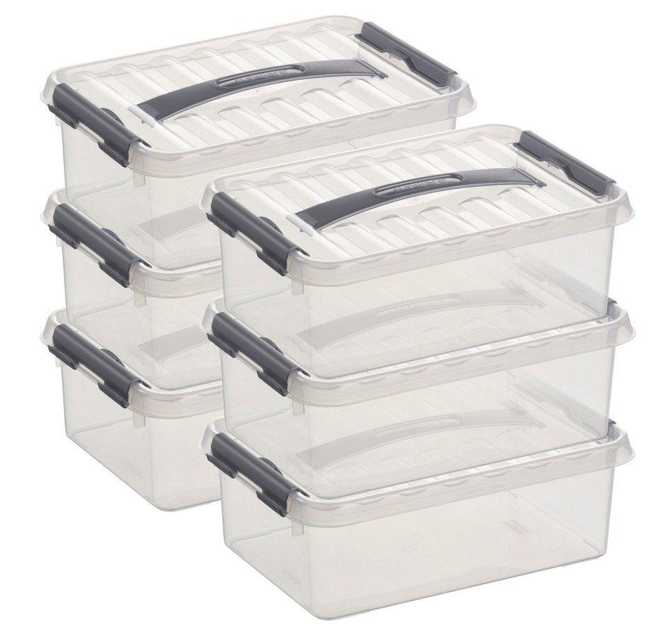 Sunware Aufbewahrungsboxen »4 Liter«, 6er Set | Dekoration > Aufbewahrung und Ordnung > Kästchen | Sunware