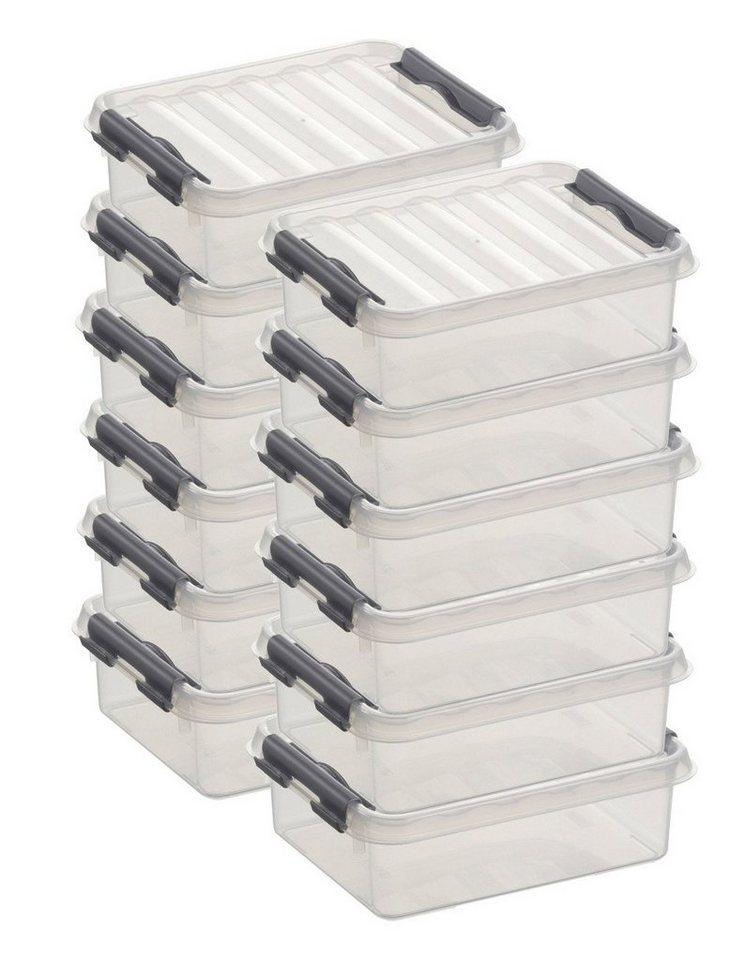 Sunware Aufbewahrungsboxen »1 Liter«, 12er Set in weiß