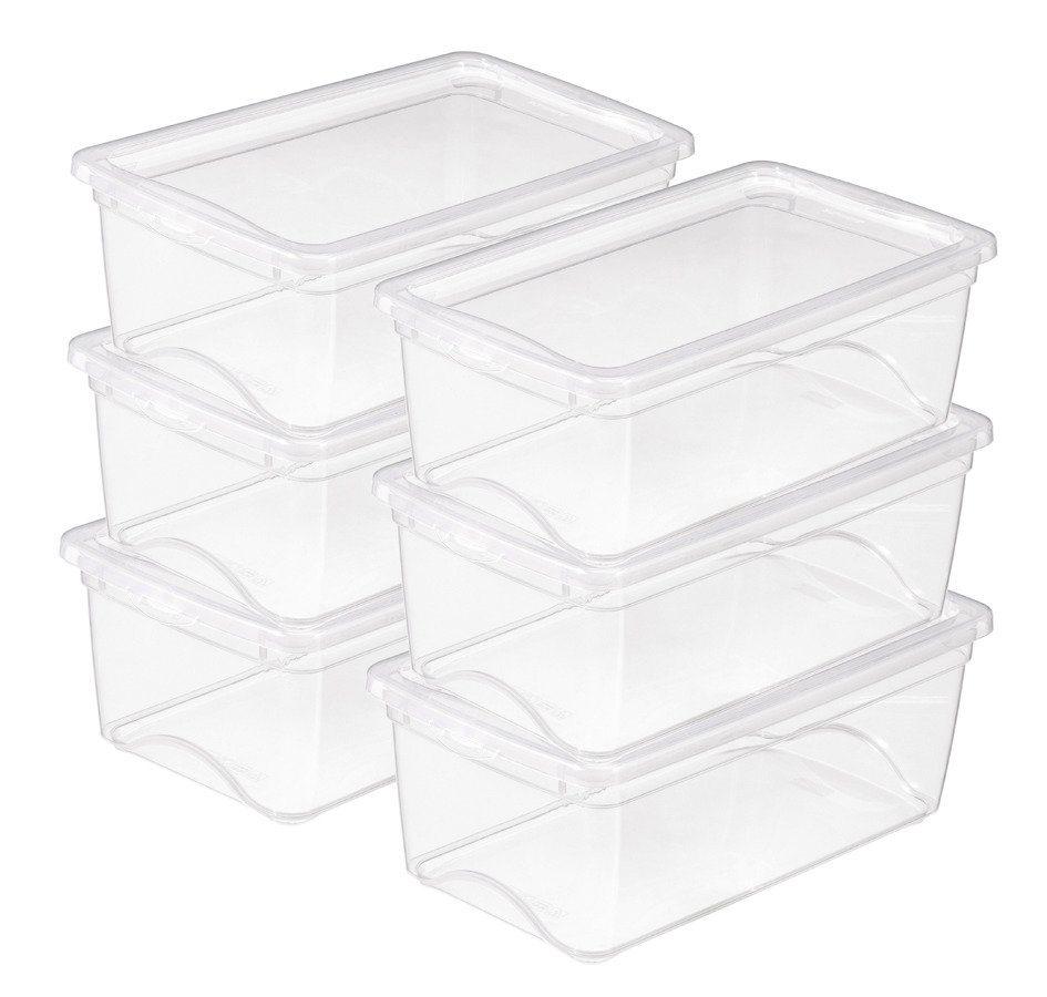 Sunware Aufbewahrungsboxen »6 Liter«, 6er Set in weiß