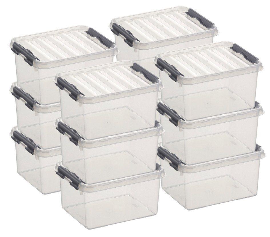 12er Set Aufbewahrungsboxen »2 Liter« in weiß