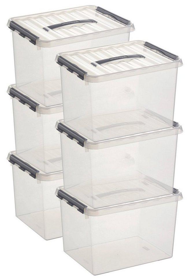 6er Set Aufbewahrungsboxen »22 Liter« in weiß
