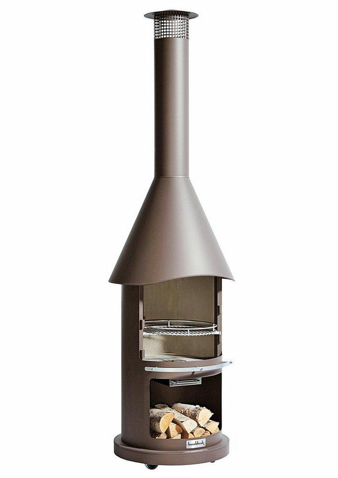 Buschbeck Grillkamin »Auckland Prestige«, BxTxH: 65x65x230 cm in braun