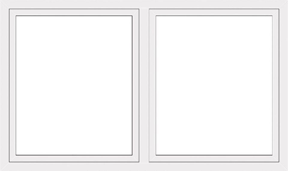 Kunststoff-Fenster, Festmaß »BxH: 170 x 120 cm« zweiflügelig, weiß in weiß