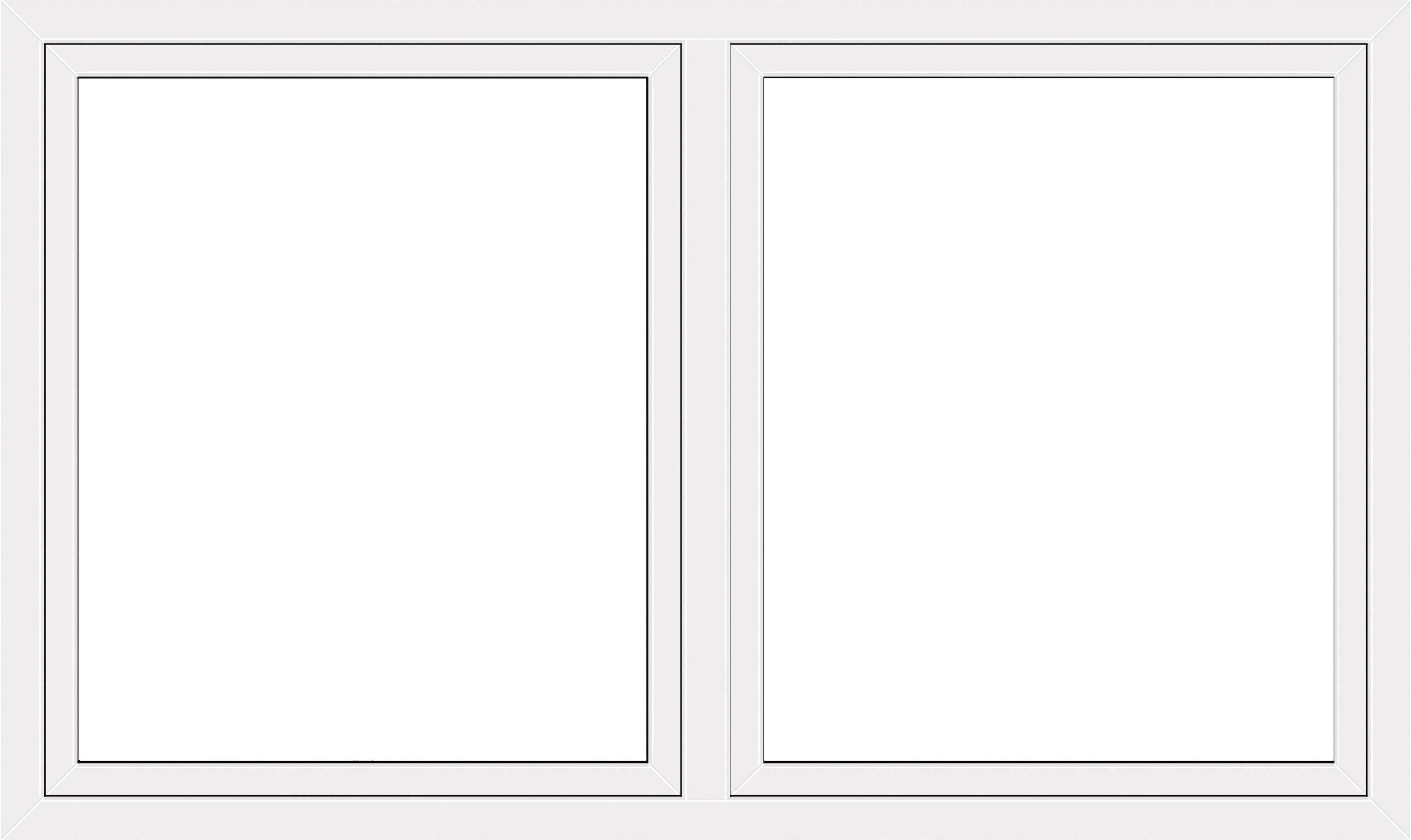 RORO Kunststoff-Fenster »Classic 420«, BxH: 170x120 cm, weiß, zweiflügelig