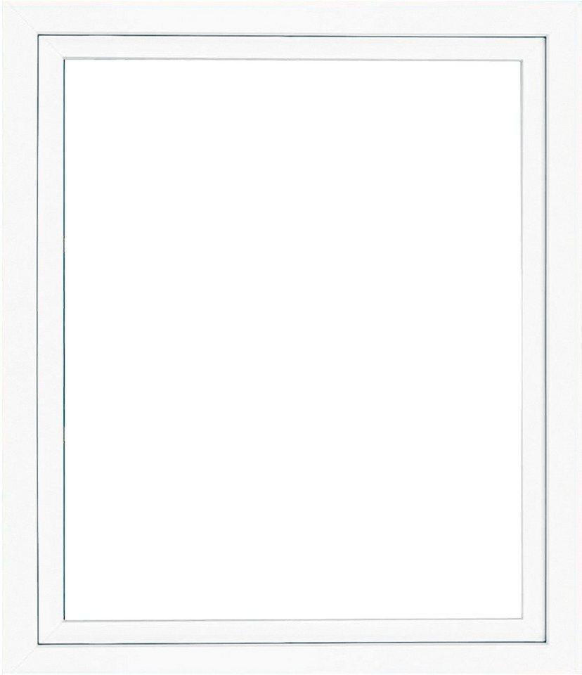 Kunststoff-Fenster, Festmaß »BxH: 95 x 95 cm« einflügelig, weiß in weiß