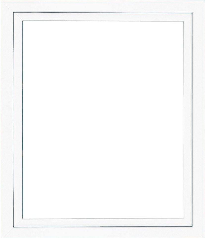 Kunststoff-Fenster, BxH: 75x40 cm, weiß in weiß