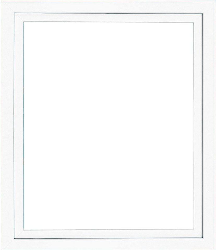 Kunststoff-Fenster, Festmaß »BxH: 80 x 60 cm« einflügelig, weiß in weiß