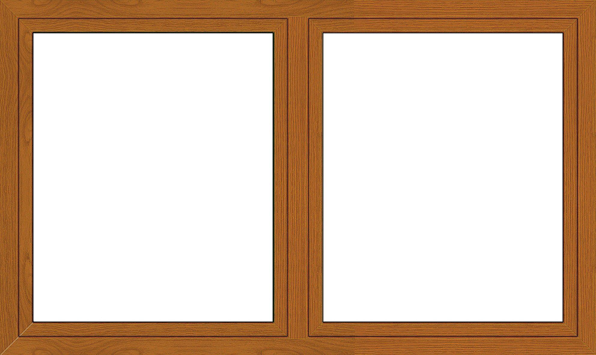 Kunststoff-Fenster, Festmaß »BxH: 170 x 120 cm« zweiflügelig, eichefarben-dunkel