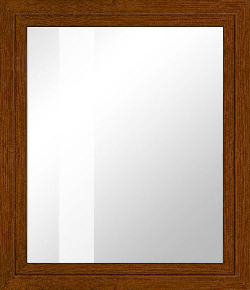 Kunststoff-Fenster, Festmaß »BxH: 80 x 60 cm« einflügelig, eichefarben-dunkel in eichefarben-dunkel