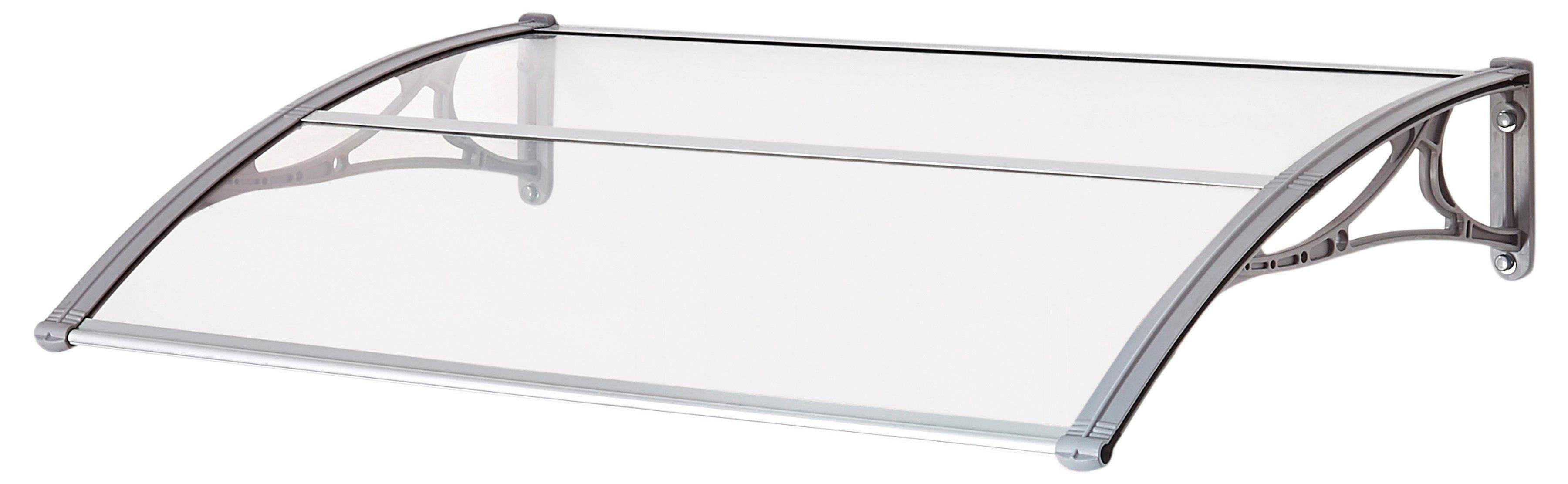 SUPERROOF Vordach »EMMA 1200«, B/T/H: 120/74/21 cm, grau