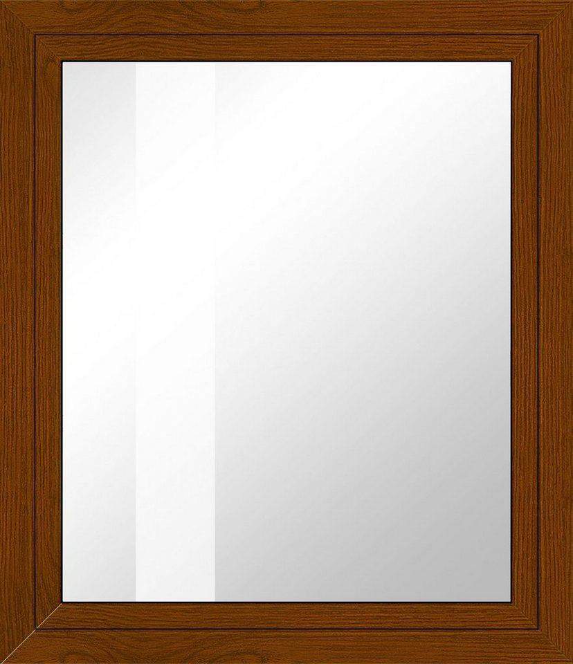 Kunststoff-Fenster, Festmaß »BxH: 95 x 120 cm« einflügelig, eichefarben-dunkel in eichefarben-dunkel