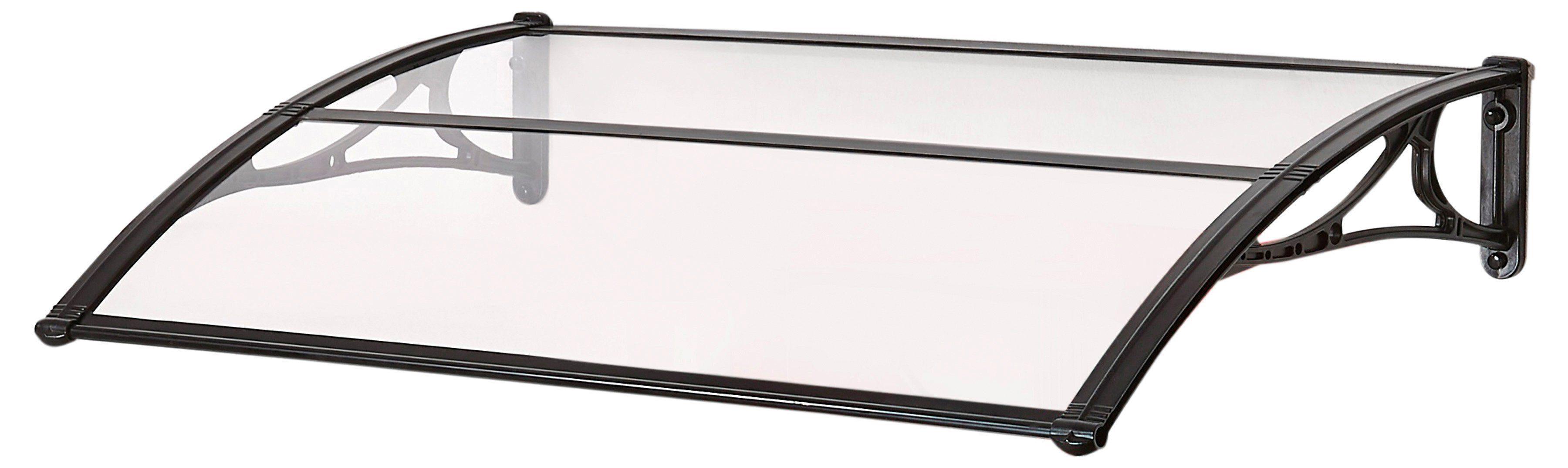 SUPERROOF Vordach »EMMA 1200«, B/T/H: 120/74/21 cm, schwarz