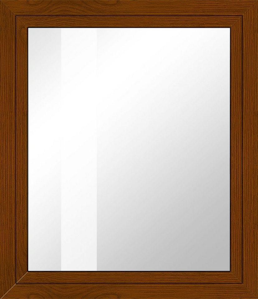 Kunststoff-Fenster, Festmaß »BxH: 95 x 95 cm« einflügelig, eichefarben-dunkel in eichefarben-dunkel