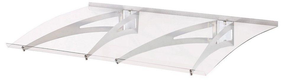 Vordach »MARY 1200« B/T/H: 120/70/15 cm, grau in grau
