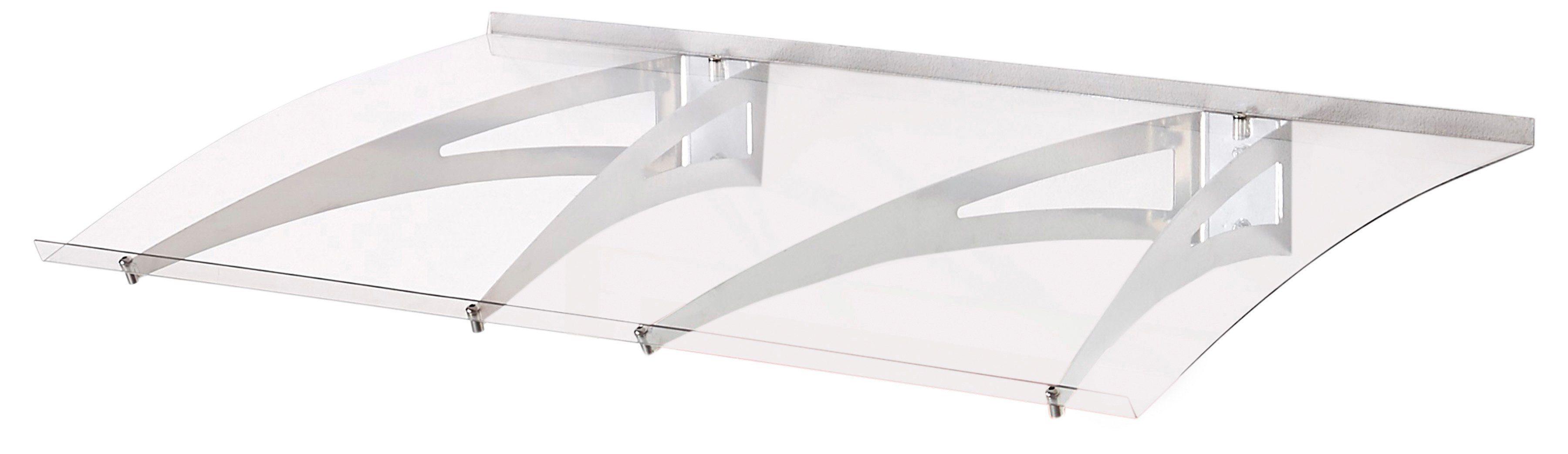 Vordach »MARY 1200« B/T/H: 120/70/15 cm, grau