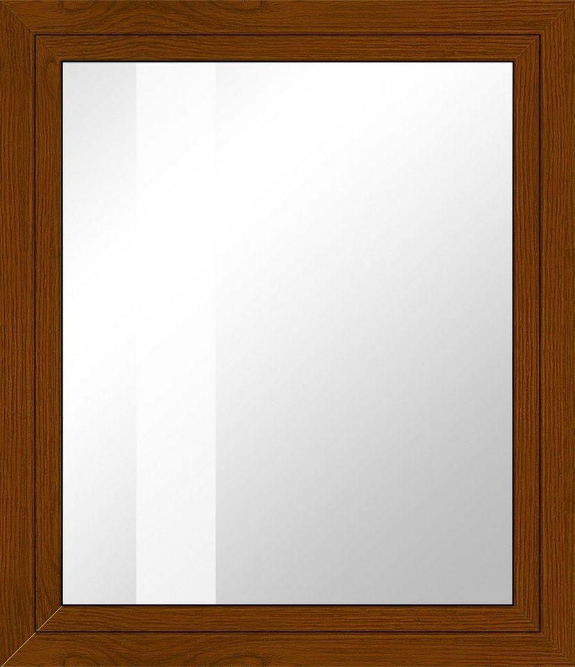 Kunststoff-Fenster, Festmaß »BxH: 60 x 60 cm« einflügelig, eichefarben-dunkel in eichefarben-dunkel