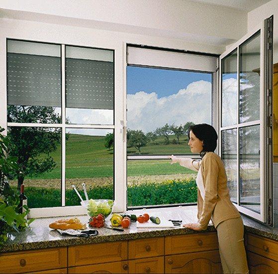 Insektenschutz für Aluminium »Vorbau-Rollladen« schwarz in schwarz