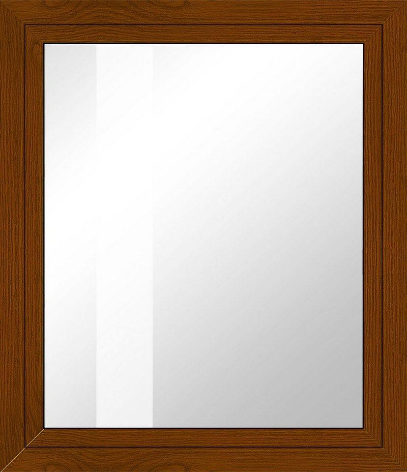 Kunststoff-Fenster, Festmaß »BxH: 80 x 100 cm« einflügelig, eichefarben-dunkel in eichefarben-dunkel