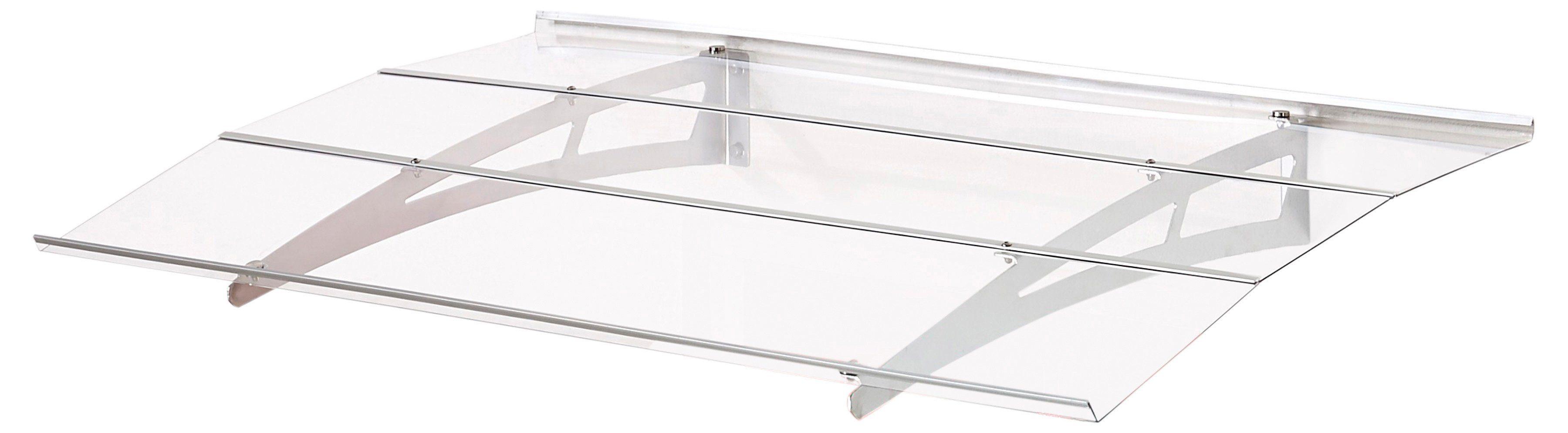 Superroof Pultvordach »Madrid 1400« B/T/H: 140/90/18 cm, silber