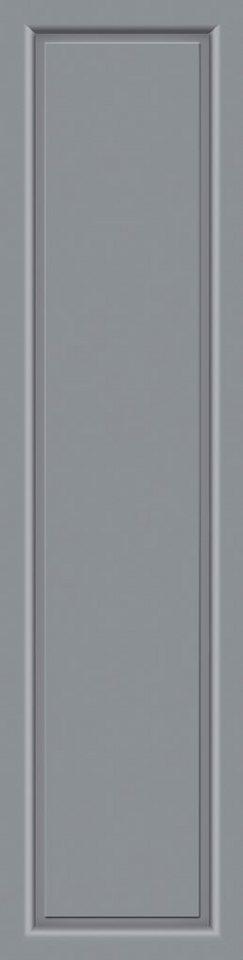 KM MEETH ZAUN GMBH Seitenteile »S04«, für Alu-Haustür, BxH: 60x208 cm, grau in grau