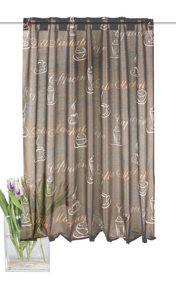 Vorhang, Home Wohnideen, »JADE« (1 Stück) in mocca