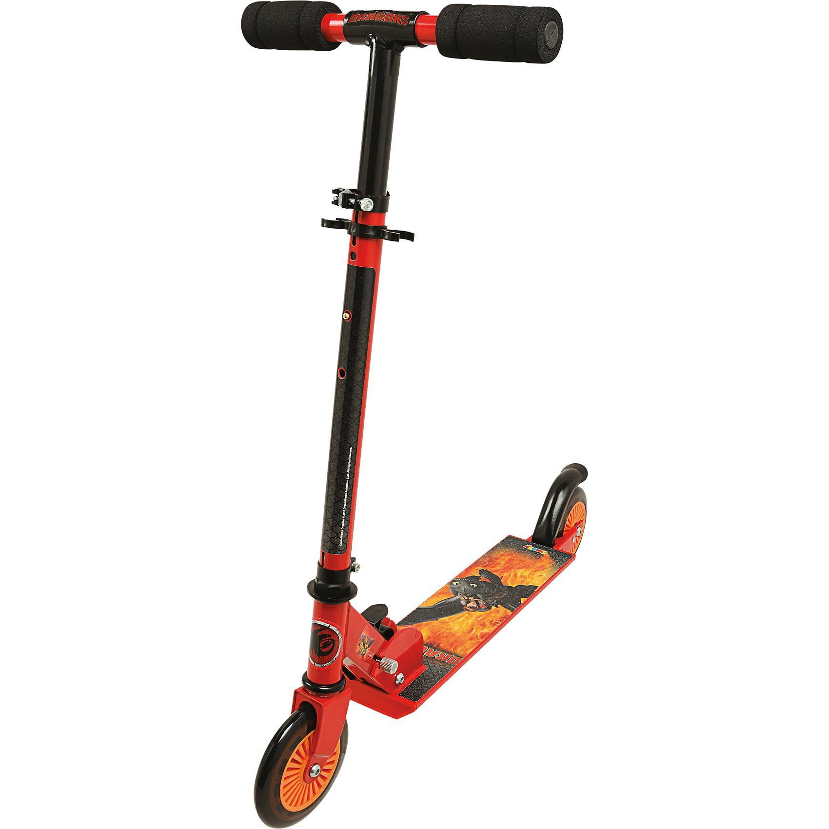 Smoby Dragons Scooter mit Bremse, zusammenklappbar