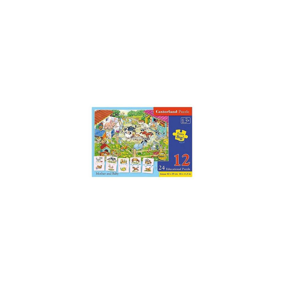 Castorland Puzzleset 12/24 Teile - Bauernhoftiere
