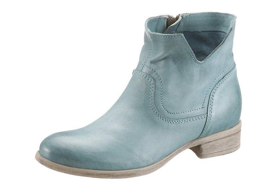 Arizona Boots im trendigen Used-Look in türkis