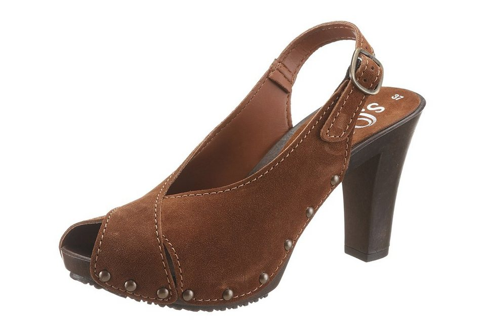 s.Oliver High Heel Sandalette in cognacfarben