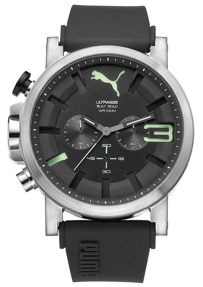 PUMA Chronograph »PUMA 10398 ULTRASIZE 50 BOLD - chrono luminous, PU103981005« in schwarz