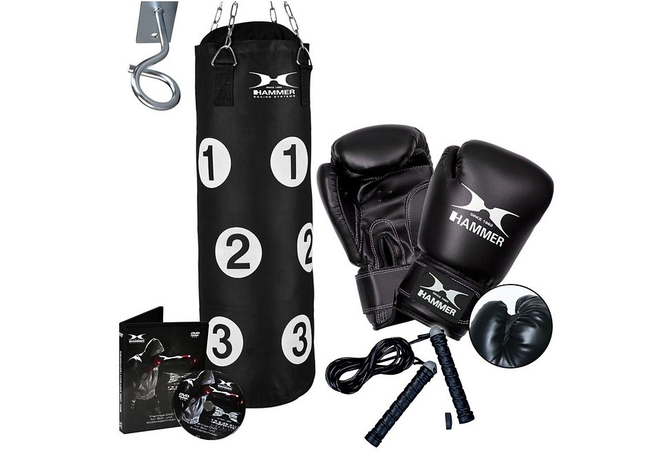 hammer boxsack sparring professional set mit trainings. Black Bedroom Furniture Sets. Home Design Ideas