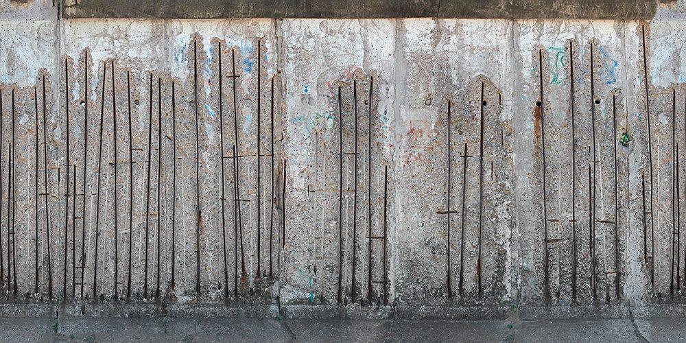 Fototapete, Architects Paper, »Beton Fototapete« 600 cm x 250 cm, Metallstangen