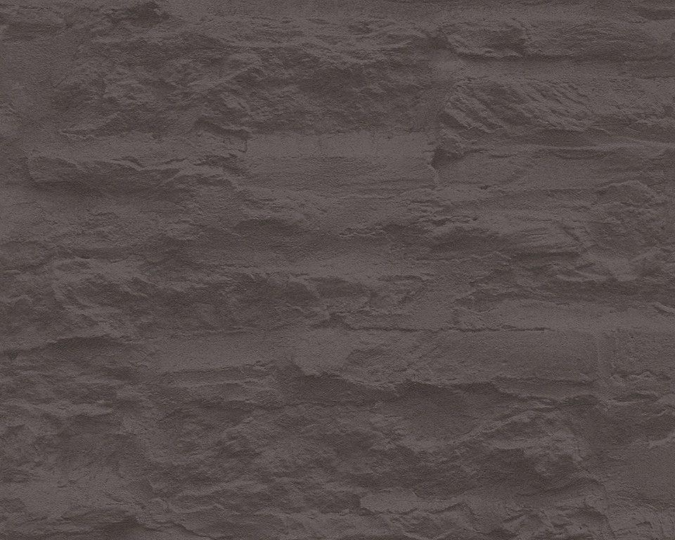 Vliestapete livingwalls sch ner wohnen 7 steinwand - Steinwand anthrazit ...