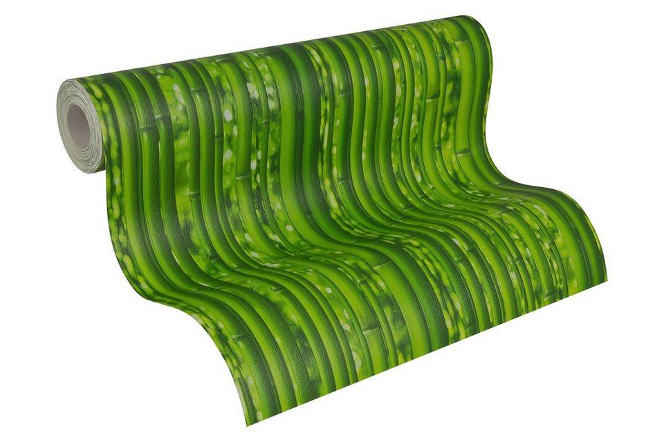 Papiertapete, Livingwalls, »Mustertapete Dekora Natur Bambus« in grün