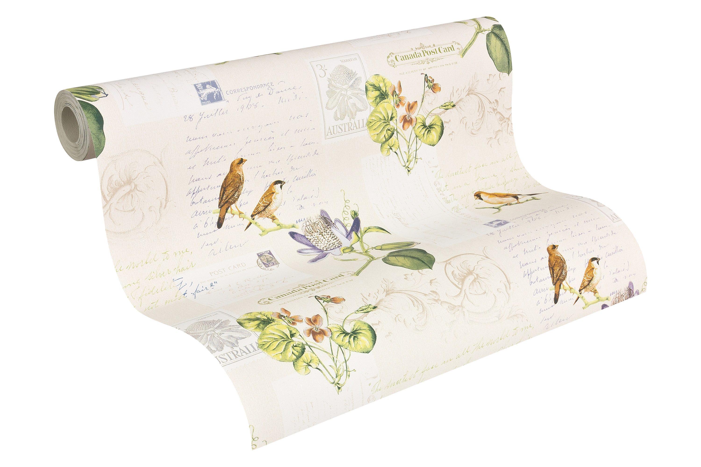 Papiertapete, Livingwalls, »Mustertapete Dekora Natur Vögel«