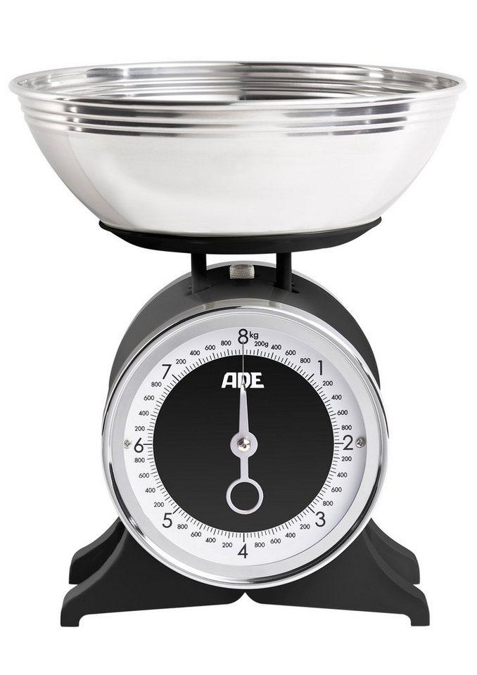 ADE Küchenwaage, mechanisch, »Anna«, KM 1501 in schwarz/edelstahlfarben