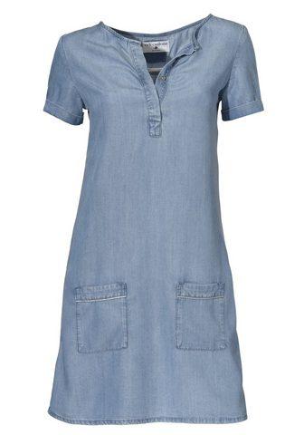 LINEA TESINI BY HEINE Džinsinė suknelė su Marškinėliai apval...