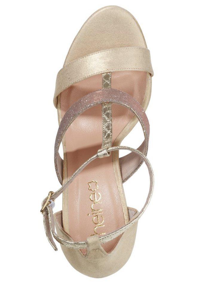 Sandalette in beige/metallic