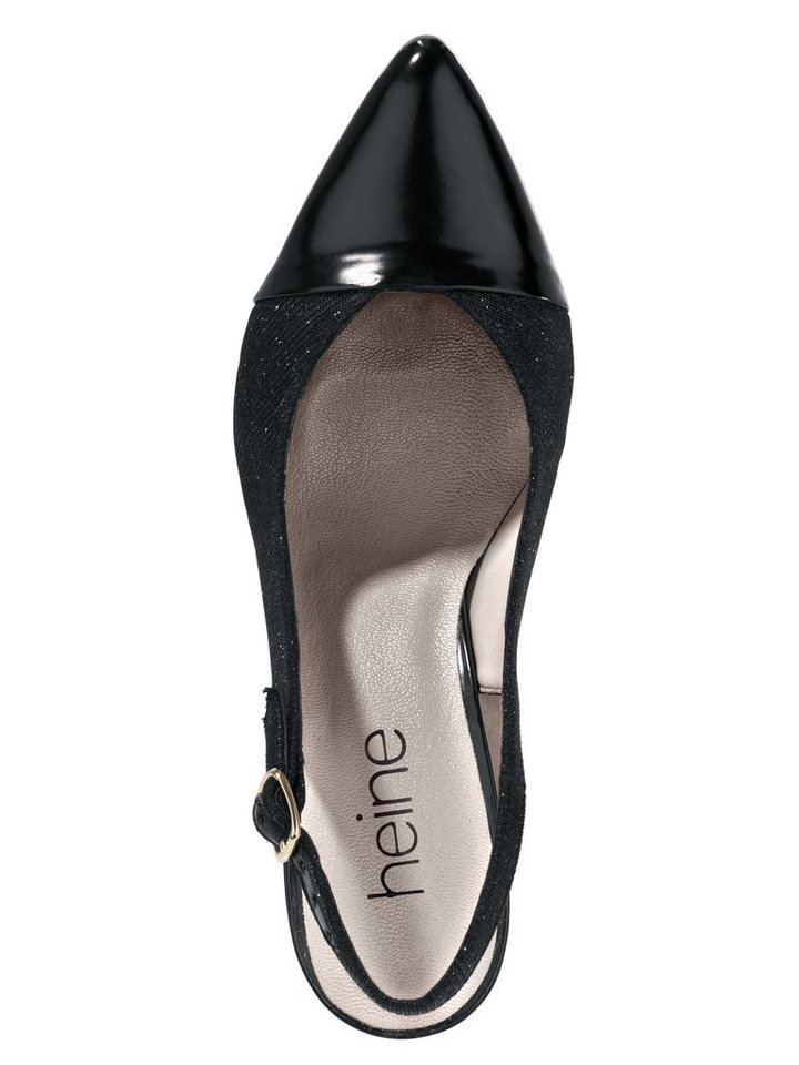 Slingpumps in schwarz