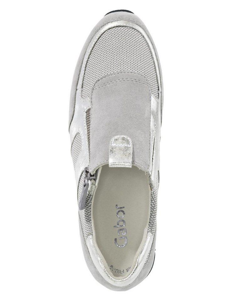 Sneaker von GABOR in grau/metallic