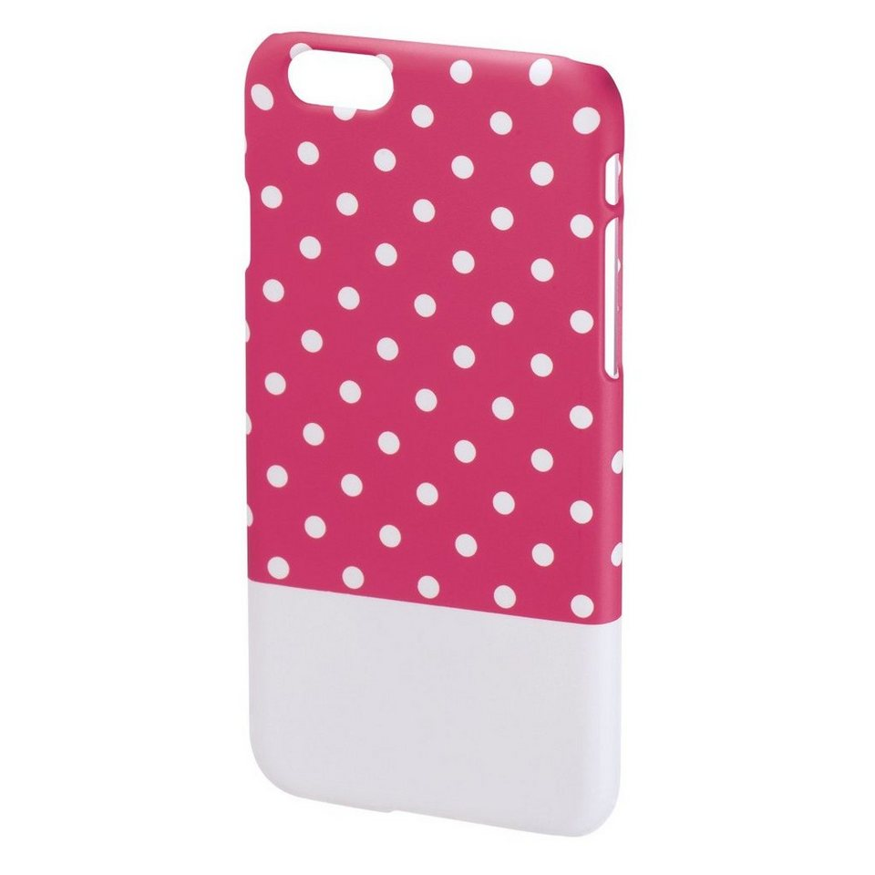Hama Cover Lovely Dots für Apple iPhone 6, Pink/Weiß in Pink