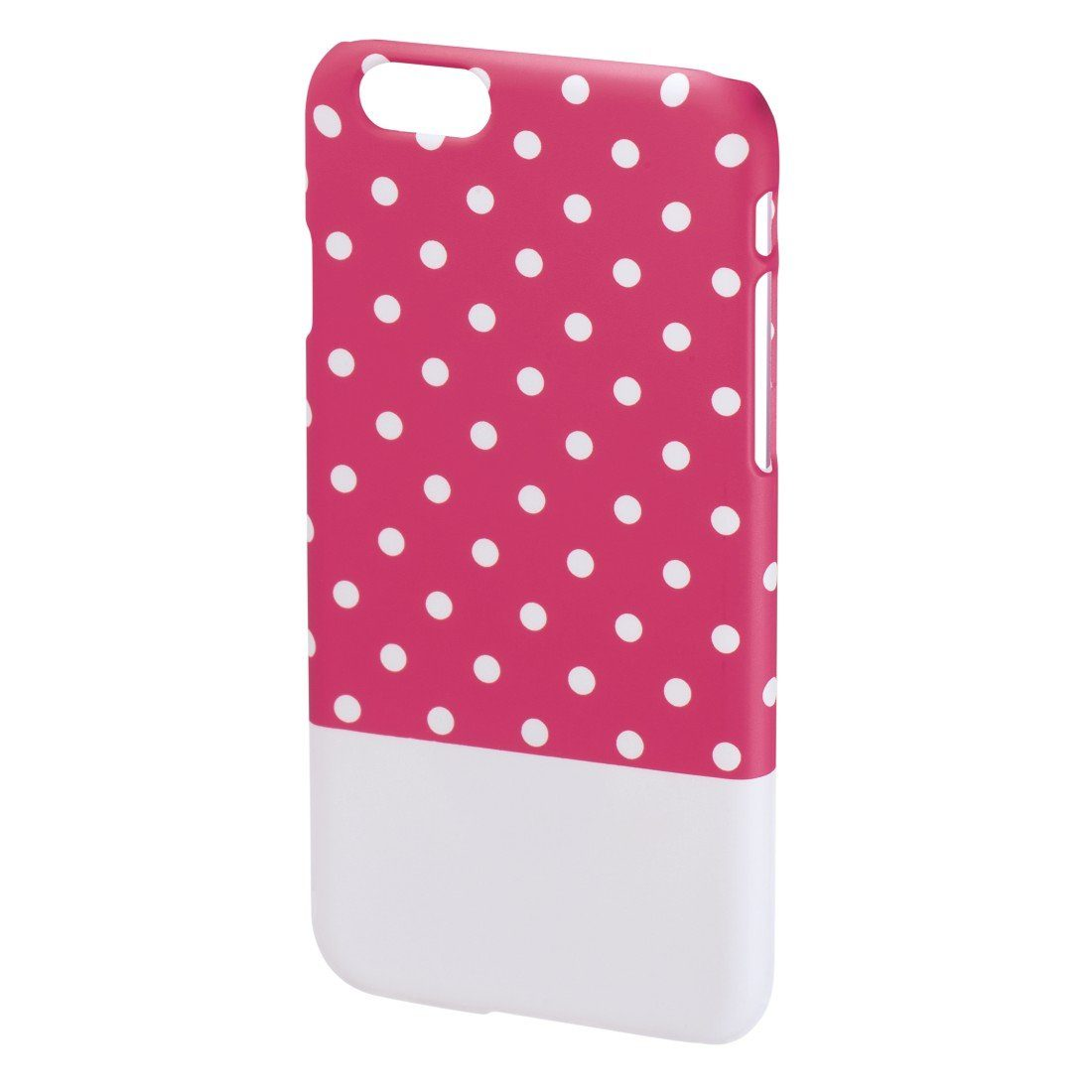 Hama Cover Lovely Dots für Apple iPhone 6, Pink/Weiß
