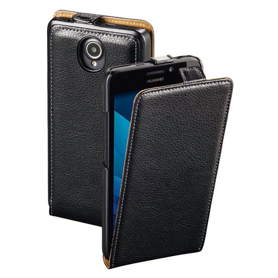 Hama Flap-Tasche Smart Case für Huawei Y635, Schwarz in Schwarz