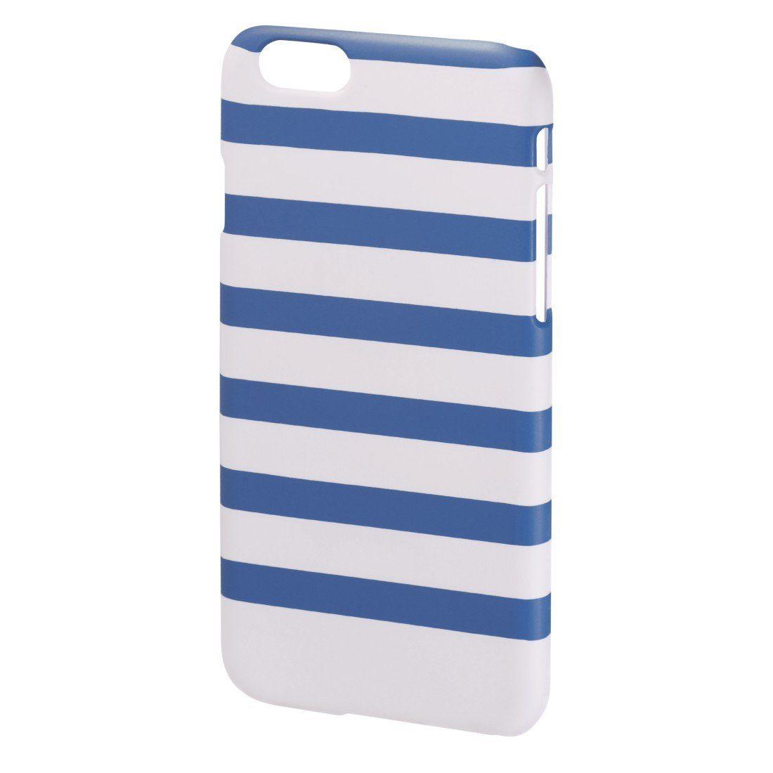 Hama Cover Stripes für Apple iPhone 6, Blau/Weiß