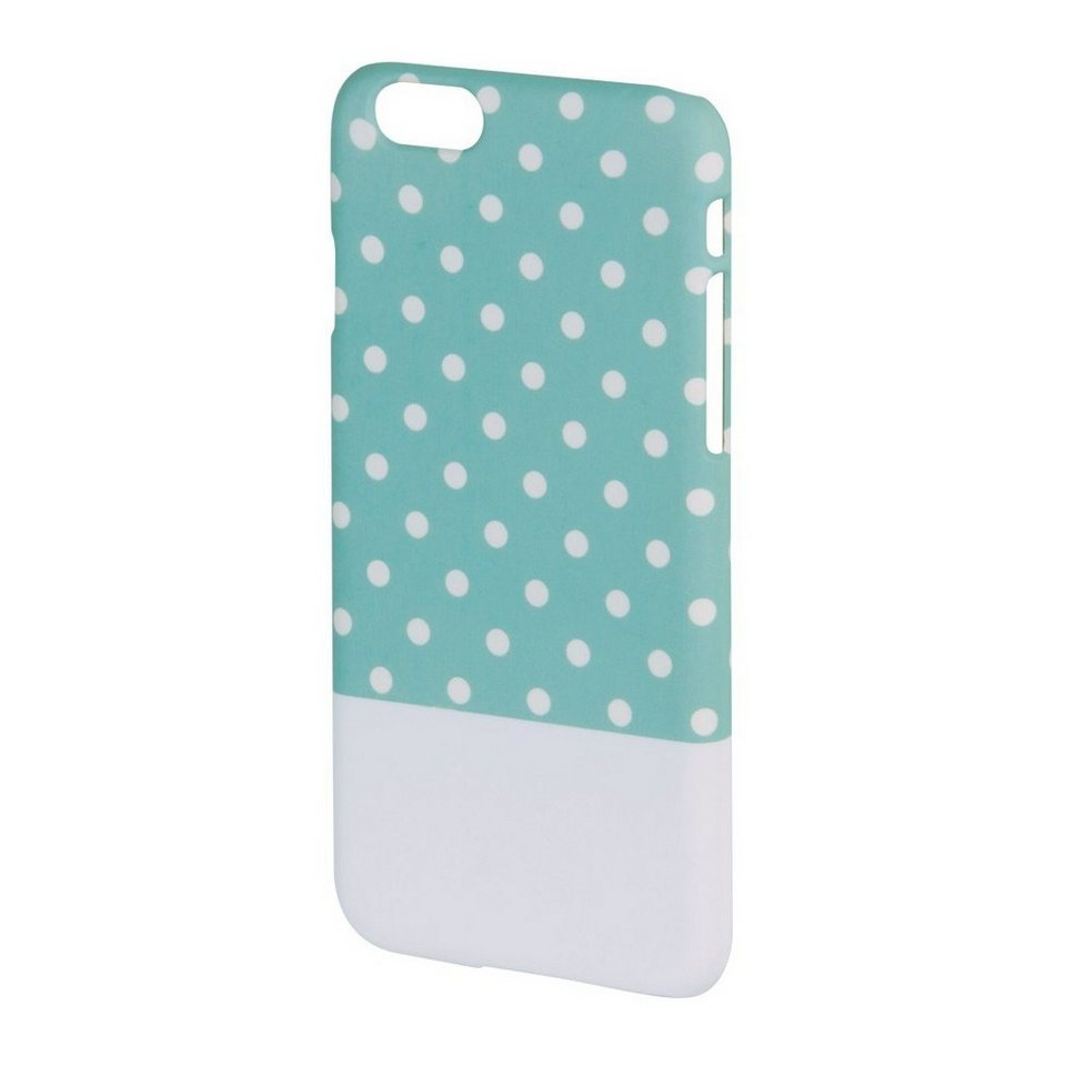 Hama Cover Lovely Dots für Apple iPhone 6, Mint/Weiß in Weiss