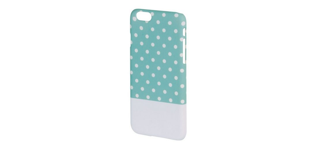 Hama Cover Lovely Dots für Apple iPhone 6, Mint/Weiß
