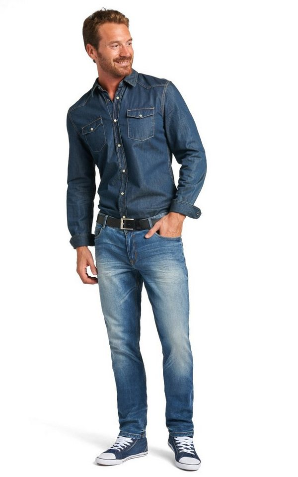 H.I.S Jeans »Cliff, used look« in eclipse blue